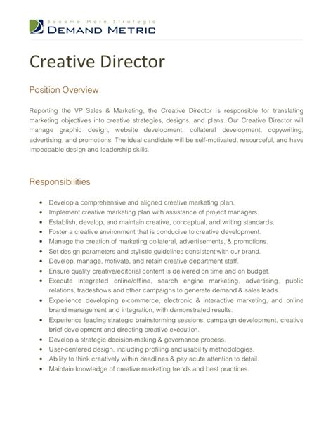 creative director description