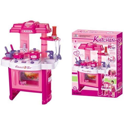 juegos de cocina de ni o cocina para ni 241 as deluxe rosa con luces y sonidos