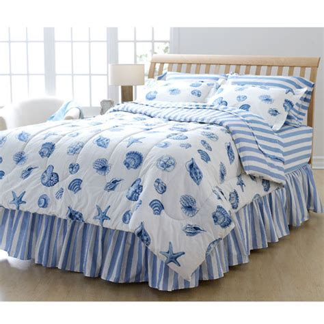 seashell bedding in a bag seashell blue microfiber 8 piece comforter set king size