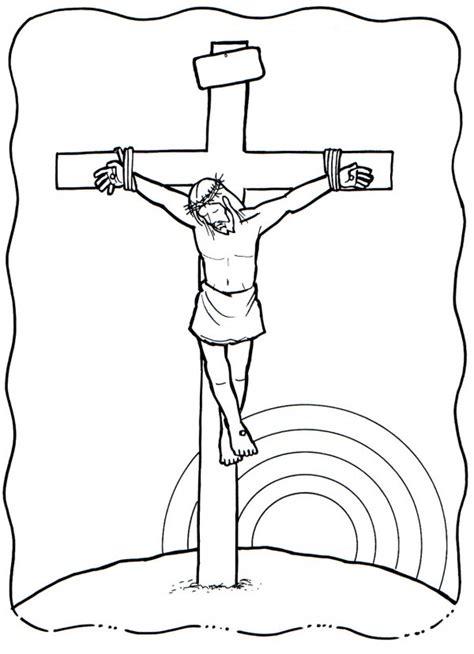 imagenes a lapiz de jesus en la cruz dibujo de una cruz para colorear en semana santa