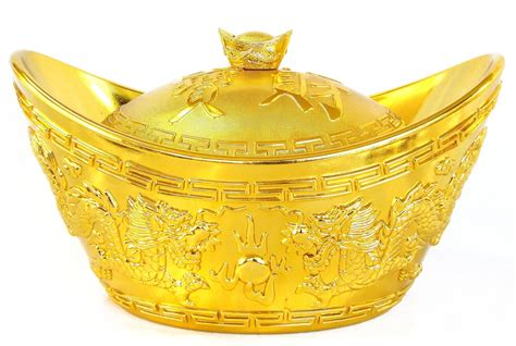 Home Inside Decoration by Feng Shui Big Shinning Gold Ingot For Wealth And Money