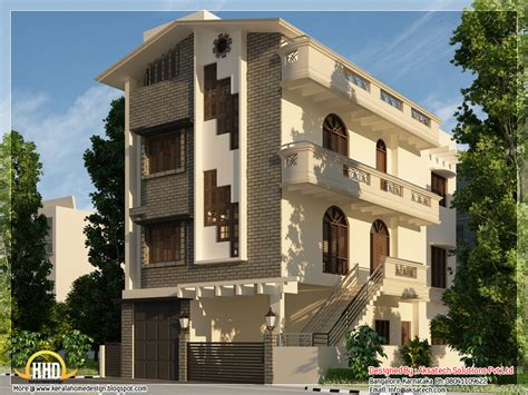 3 storey house beautiful contemporary home designs kerala home design