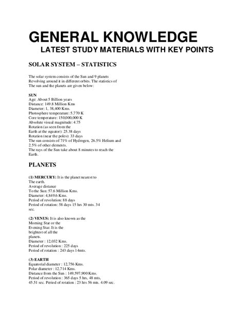 General Knowledge Questions For Mba Entrance Exams Pakistan by General Knowledge