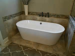 How To Tile A Bathtub Surround Free Standing Tub Surround For The Home Pinterest