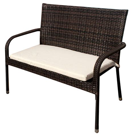 rattan bench seat greenfingers moncafa 2 seater bench on sale fast