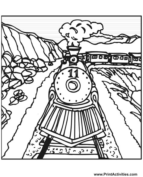 coloring pages printables trains steam train coloring page train number 11 on the tracks