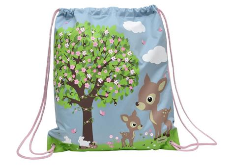 Animal Drawstring Bag drawstring bag woodland animals bobble