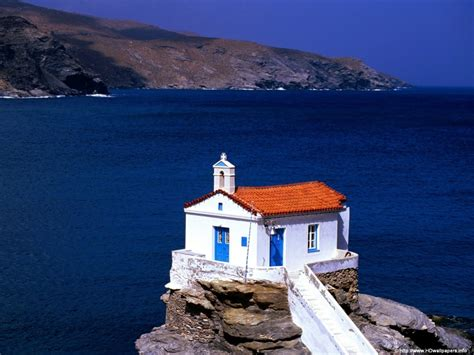 greece wallpaper for mac 1024x768 thalassini church cyclades islands desktop pc
