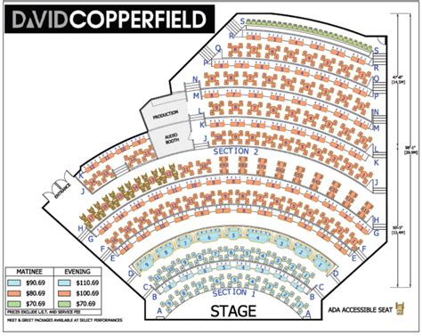 david copperfield theatre seating chart las vegas shows david copperfield las vegas hotel
