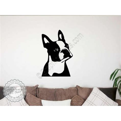 Boston Terrier Stickers boston terrier wall sticker vinyl mural decal