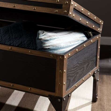 Trunk Coffee Table Black Southern Enterprises Drifton Travel Trunk Coffee Table In Black Ck3180