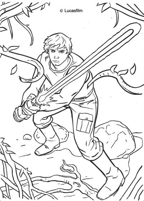 coloring pages star wars jedi luke skywalker on dagobah coloring pages hellokids com