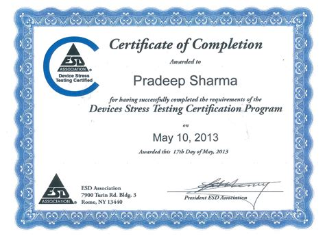 permanent works design certificate hsa materials analysis technology inc gt dr sharma received