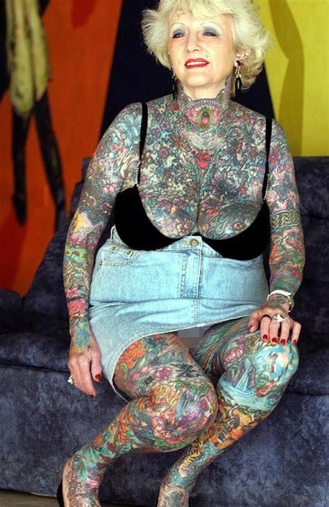 full body tattoo lady briton isobel varley 69 the world s eldest tattooed