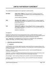 Partnership Agreement Template Sle Form Biztree Com Draft Partnership Agreement Template