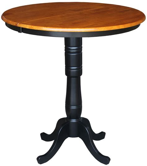 solid wood 36 diameter bar height pedestal dining table