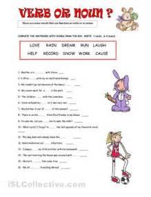 noun highschool worksheet images verb or noun worksheet