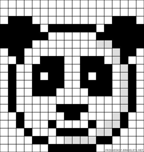 Panda Pixel Template panda perler bead pattern pixel templates