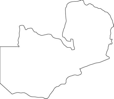 printable map of lusaka zambia outline map