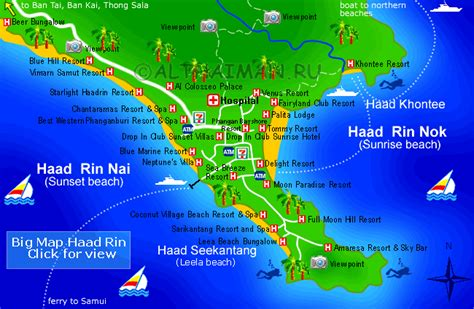 haad tien resort map haad rin hotels on map hotels reservation in koh
