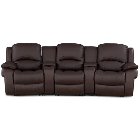 Sofa Bed Reclining furniture espresso leather seat sofa bed which furnished with recliner and adjustable