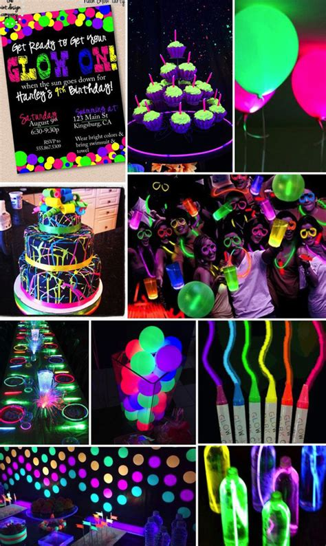 themes for teenage house parties neon glow in the dark party ideas