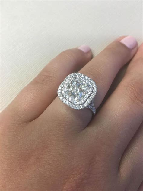 Big Engagement Rings by 25 Best Ideas About Cushion Cut Halo On