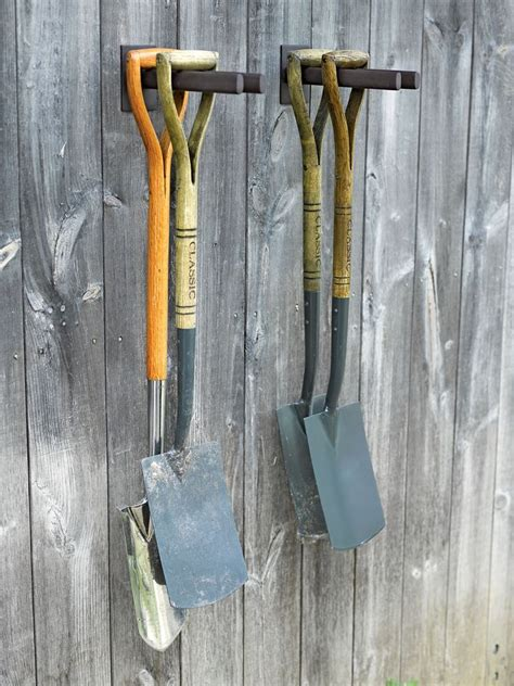 Garage Storage Yard Tools Best 25 Tool Hangers Ideas On Garage Tool
