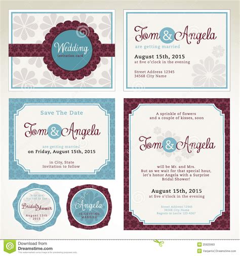 Credit Card Wedding Invitation Template Wedding Invitation Card Templates Stock Photos Image 25925993