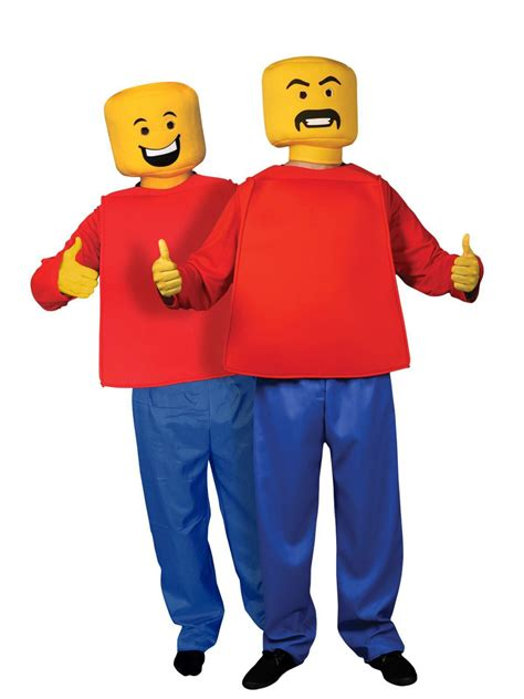 adult size legos adult mr block head man costume 80s lego retro mascot