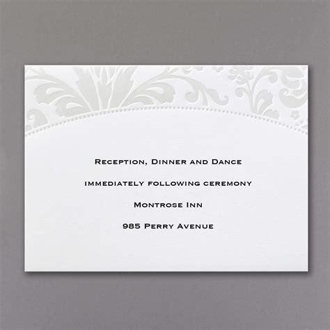pearlized wedding invitations pearlized filigree border wedding invitations
