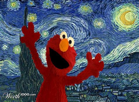 painting elmo classic paintings get recreated with sesame characters