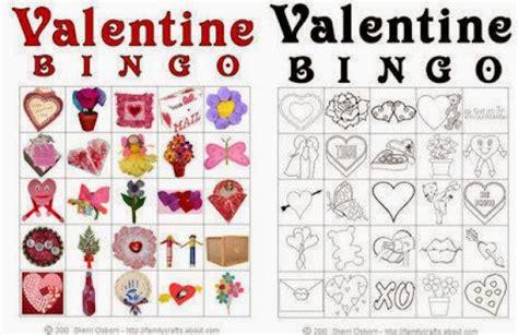 valentines activities 7 s day bingo cards for