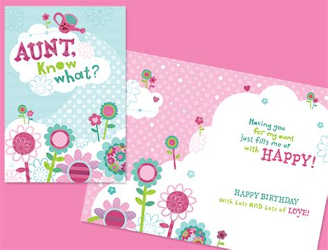 printable birthday cards for aunt free aunt birthday card laura mayes