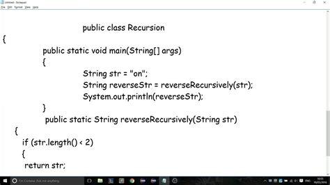 tutorialspoint recursion write a program to reverse a string in java writingfixya