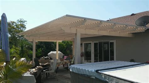mission viejo aluminum patio cover project by the patio