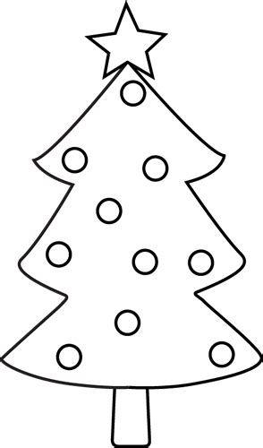 christmas tree clip art black and white new calendar