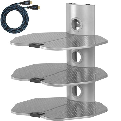 Satellite Box Shelf by Cheetah Mounts As3s 3 Shelf Tv Component Wall Mount