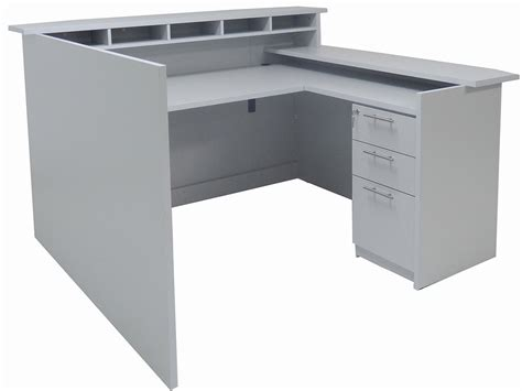 multi joint desk l custom multi level l reception desk w right low counter