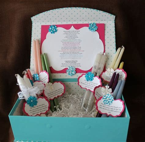 Bridal Shower Gifts For The by Wedding Shower Candle Poem Gift Set Bridal Candle Basket Sentimental Wedding Gift Candle Poem