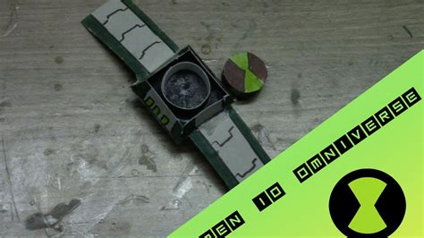 How To Make A Ben 10 Omnitrix Out Of Paper - how to make a ben 10 omniverse omnitrix part 1