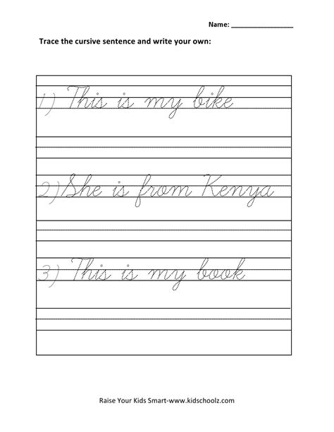 free printable tracing sentences worksheets worksheet cursive sentences worksheets grass fedjp