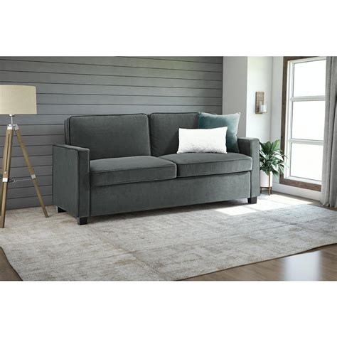 Sleep Sofa by Home Decorators Collection Gordon Grey Velvet Sofa