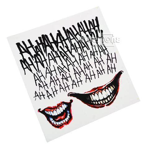 batman tattoo kit christmas fancy dress the joker temporary tattoos suicide