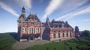 grand palace station minecraft hd wallpaper