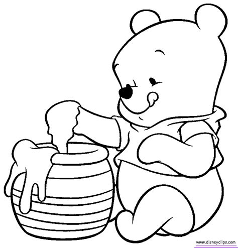winnie the pooh characters coloring pages baby disney characters coloring pages coloring home