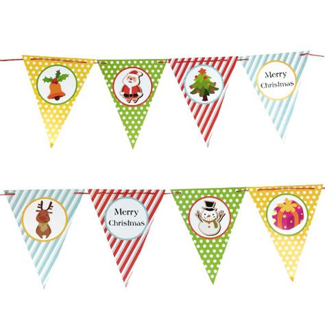 How To Make Paper Pennant Banner - stripes and dots paper pennant banner