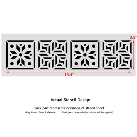 Wall Sticker Border Wall Border Motif List Dinding Kode 82 84 wall border stencils pattern 019 reusable template for diy wall decor j boutique stencils