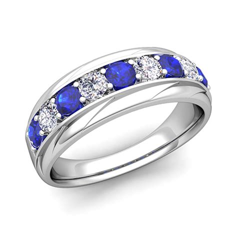 custom fancy wedding band ring for with gemstones and