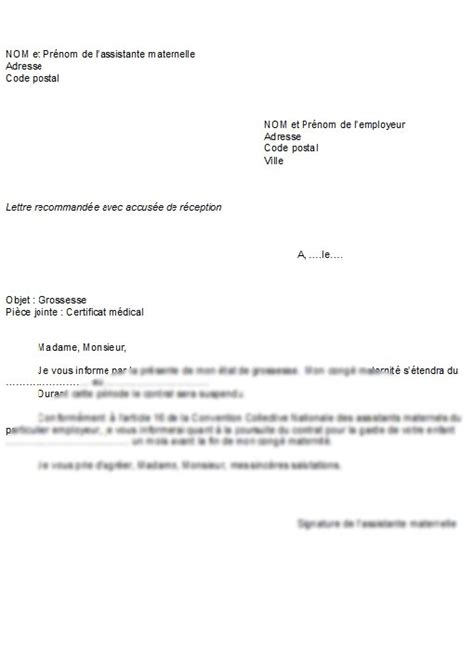 Exemple De Lettre De Démission Assistant Maternelle Lettre De Motivation Assistante Maternelle Employment Application